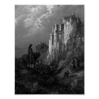 King Arthur with Beautiful Castle Poster