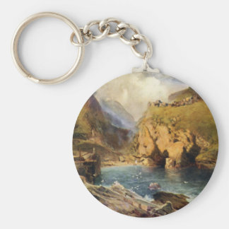 King Arthur's Castle in Camelot Basic Round Button Keychain