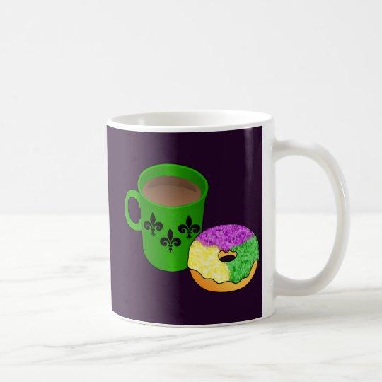 King Cake Doughnut and Coffee Coffee Mug