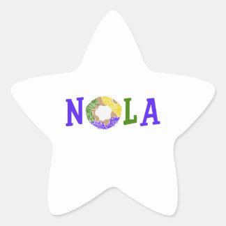 KING CAKE NOLA STAR STICKER