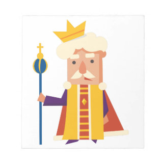 King Cartoon character Notepad
