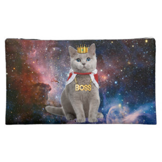king cat in the space cosmetic bag