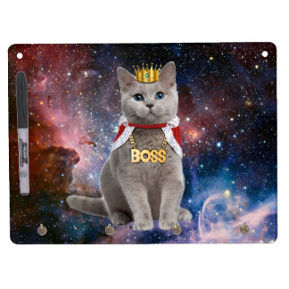 king cat in the space dry erase board