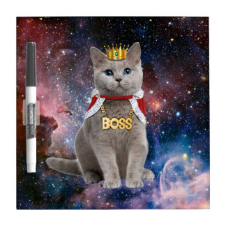 king cat in the space Dry-Erase boards