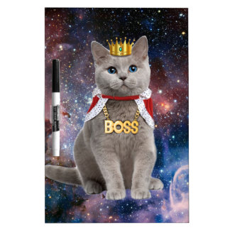 king cat in the space dry erase whiteboards
