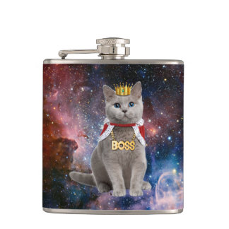 king cat in the space flasks