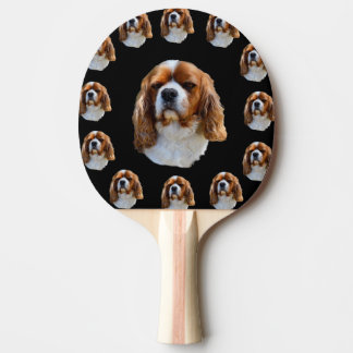 King Charles Cavalier Spaniel Dog Face Pattern, Ping Pong Paddle