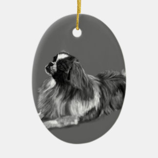 King Charles Ceramic Oval Ornament