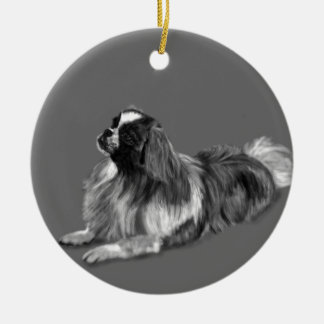 King Charles Round Ceramic Ornament