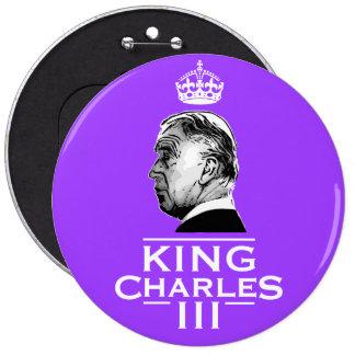 King Charles Third coronation 6 Inch Round Button