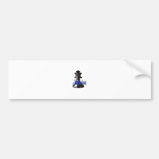 King Chess Piece Bumper Sticker