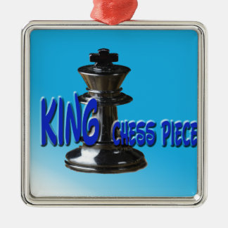 King Chess Piece With Background Metal Ornament