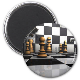 King Chess Play 2 Inch Round Magnet