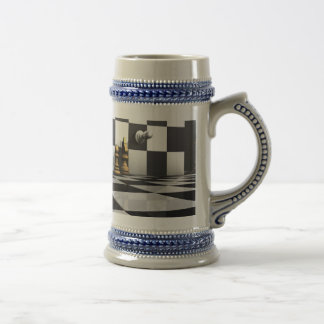 King Chess Play Beer Stein