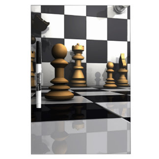 King Chess Play Dry Erase Board