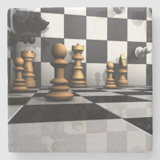 King Chess Play Stone Coaster