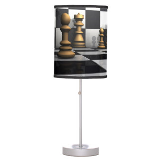 King Chess Play Table Lamp