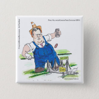 King Christie & GW Bridge Funny 2 Inch Square Button