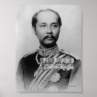 King Chulalongkorn Rama V of Thailand Poster