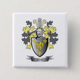 King Coat of Arms 2 Inch Square Button