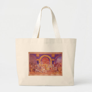 King Cotton by Thomas Nast Large Tote Bag