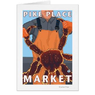 King Crab Fisherman - Pike Place Market, Seattle Cards