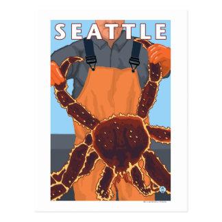 King Crab Fisherman - Seattle, Washington Postcard
