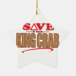 King Crab Save Ceramic Star Ornament