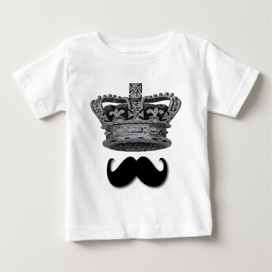 King Crown and Moustache Baby T-Shirt