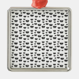 King Crown Pattern Silver-Colored Square Ornament