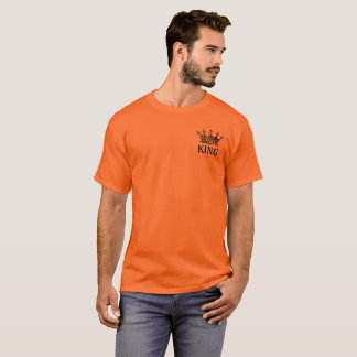 King Crown Vintage Construction Orange T shirt