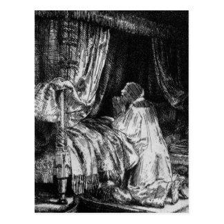 King David at prayer, 1652 Postcard