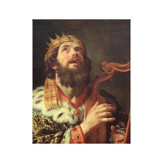 King David Playing His Harp Canvas Print