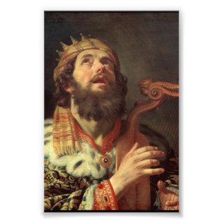 King David Playing His Harp Photograph
