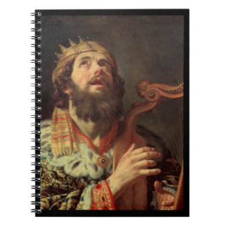 King David Playing the Harp Note Book