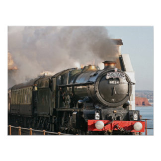 King Edward 1 Steam Engine Poster