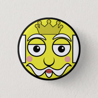 King Face 1 Inch Round Button