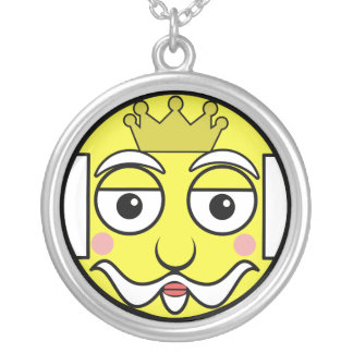 King Face Silver Plated Necklace