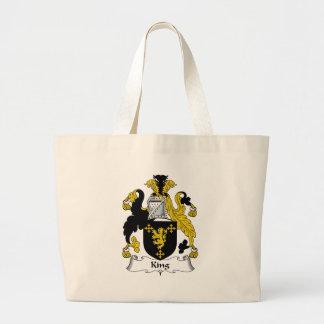 King Family Crest Jumbo Tote Bag