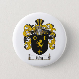 KING FAMILY CREST -  KING COAT OF ARMS 2 INCH ROUND BUTTON