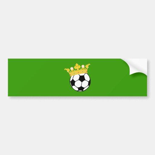 King football king more soccer bumper sticker