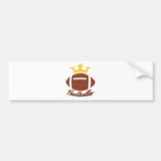 King Footballer Bumper Sticker