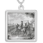 King Frederick II of Prussia  reviewing the Silver Plated Necklace