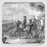 King Frederick II of Prussia  reviewing the Square Sticker