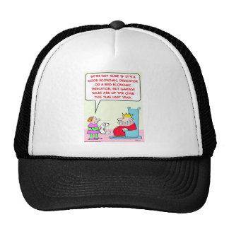 king garage sales economic indicator mesh hat
