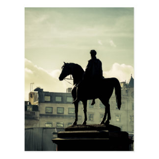 King George IV at Trafalgar Square Postcard