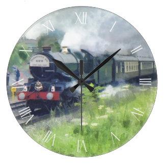 King George Steam Train white roman dial Clocks