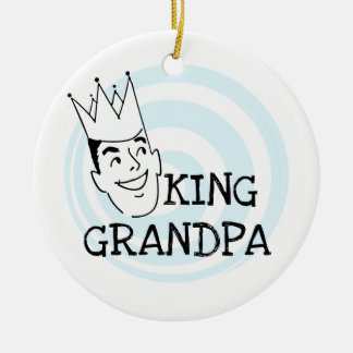 King Grandpa T-shirts and Gifts Ceramic Ornament