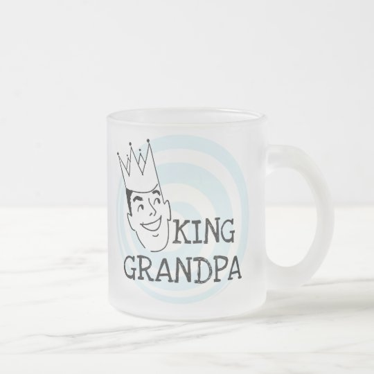 King Grandpa T-shirts and Gifts Frosted Glass Coffee Mug