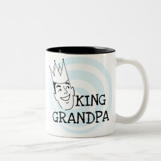 King Grandpa T-shirts and Gifts Two-Tone Coffee Mug